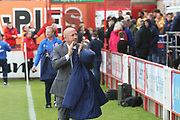 John Coleman, Manager of Accrington Stanley during the EFL Sky Bet League 2 match between Accrington Stanley and Mansfield Town at the Fraser Eagle Stadium, Accrington, England on 19 August 2017. Photo by John Potts.
