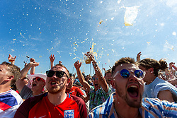 Fans celebrates as Raheem Sterling scores Englands second goal of the game - Ryan Hiscott/JMP - 07/07/2018 - FOOTBALL - Ashton Gate - Bristol, England - Sweden v England, World Cup Quarter Final, World Cup Village at Ashton Gate