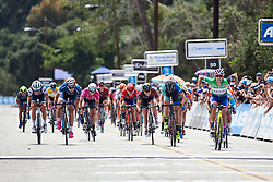 Lisa Klein (GER) in the final sprint at Amgen Tour of California Women's Race empowered with SRAM 2019 - Stage 3, a 126 km road race from Santa Clarita to Pasedena, United States on May 18, 2019. Photo by Sean Robinson/velofocus.com