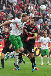 14.08.2011,  BayArena, Leverkusen, GER, 1.FBL, Bayer 04 Leverkusen vs SV Werder Bremen, im Bild.Kopfballchance für Per Mertesacker (Bremen #29) gegen Michael Ballack (Leverkusen #13)..// during the 1.FBL, Bayer Leverkusen vs Werder Bremen on 2011/08/14, BayArena, Leverkusen, Germany. EXPA Pictures © 2011, PhotoCredit: EXPA/ nph/  Mueller *** Local Caption ***       ****** out of GER / CRO  / BEL ******