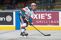 KELOWNA, CANADA - JANUARY 3: Devante Stephens #21 of Kelowna Rockets skates against the Prince George Cougars on January 3, 2015 at Prospera Place in Kelowna, British Columbia, Canada.  (Photo by Marissa Baecker/Shoot the Breeze)  *** Local Caption *** Devante Stephens;
