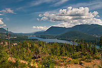Cowichan lake runs 30km in Vancouver Island, and is a popular summer cabin spot.