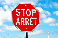 Stop signs in New Brunswick Canada are bilingual in English and French