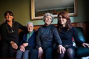 Three generations of the Verdié women, Perpignan, December 2011. L-R, Reneé, Tata Marie, Mathilde, Nathalie