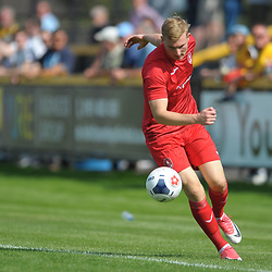 TELFORD COPYRIGHT MIKE SHERIDAN Chris Lait of Telford during the National League North fixture between Southport and AFC Telford United at Haig Avenue on Saturday, August 24, 2019<br /> <br /> Picture credit: Mike Sheridan<br /> <br /> MS201920-005