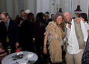 MIA NEWBURY; MICHAEL BAKER, Launch of Stephanie Theobald's book' A Partial Indulgence'  drinks provided by Ruinart champage nd Snow Queen vodka. The Artesian at the Langham, 1c Portland Place, Regent Street, London W1