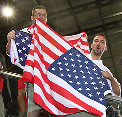 10.07.2011, Tivoli Stadion, Innsbruck, AUT, American Football WM 2011, Group A, Germany (GER) vs United States of America (USA), im Bild Fans Team USA // during the American Football World Championship 2011 Group A game, Germany vs USA, at Tivoli Stadion, Innsbruck, 2011-07-10, EXPA Pictures © 2011, PhotoCredit: EXPA/ T. Haumer