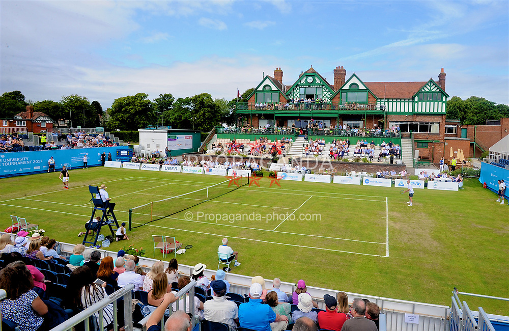 LIVERPOOL, ENGLAND - Friday, June 16, 2017: A general view during Day Two of the Liverpool Hope University International Tennis Tournament 2017 at the Liverpool Cricket Club. (Pic by David Rawcliffe/Propaganda)