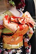 Japanese Woman in Kimono and Elaborate Obi