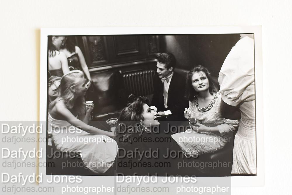 ALEXANDRA HOOGEWEEGEN; JOSH ASTOR, SUSANNAH BAKER-SMITH, Cooke dance, Savile club, 27 September 1986.