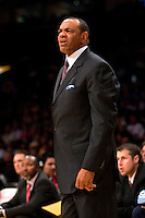 06 November 2009: Head coach Lionel Hollins of the Memphis Grizzles coaches against the Los Angeles Lakers during the Lakers 114-98 victory over the Grizzles at the STAPLES Center in Los Angeles, CA.