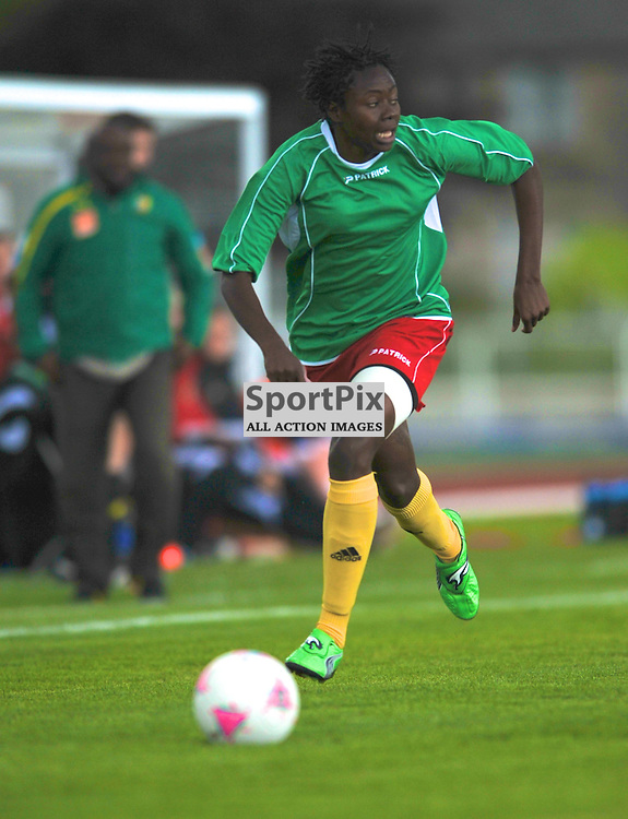 Cameroon vs Scotland in pre Olympic warm up match. 15th July 2012.
