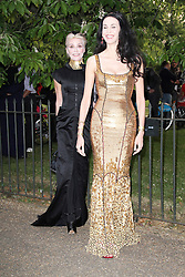 © London News Pictures. 26/06/2013. London, UK. Daphne Guinness and L'Wren Scott at  The Serpentine Gallery summer party, Kensington Gardens London UK, 26 June 2013, Photo credit: Richard Goldschmidt/LNP