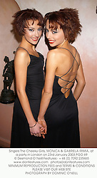 Singers The Cheeky Girls, MONICA & GABRIELA IRIMIA, at a party in London on 23rd January 2003.	PGO 69
