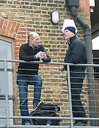 London, Great Britain.  Sean BOWDEN, [left],  Head Coach, Oxford Blue Boat, OUBC, and Chris COLLERTON, Coach, Leander Club, chat, prior to Pre Boat race fixture over the Championship Course  River Thames. Single race piece - Putney to Chiswick Pier.  on Saturday  12/03/2011 [Mandatory Credit; Karon Phillips/Intersport Images]..