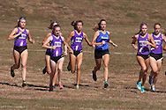Central Valley, New York -  Runners take off in the varsity girls race at the first annual Crusader Classic invitational cross country meet on Sept. 27, 2014. Monroe-Woodbury's Kathyn Munks, second from left, finished first. She ran the 3.1-mile course in 19 minutes, 36.79 seconds. M-W also won the team title with 27 points.