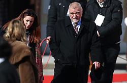 15.02.2015, Zagreb, CRO, Kolinda Gabar, Einweihungsfeier der neuen kroatischen Präsidentin Kolinda Grabar, im Bild Former Croatian president Stjepan Mesic // during inauguration ceremony of new Croatian President Kolinda Grabar in Zagreb, Croatia on 2015/02/15. EXPA Pictures © 2015, PhotoCredit: EXPA/ Pixsell/ Igor Kralj<br /> <br /> *****ATTENTION - for AUT, SLO, SUI, SWE, ITA, FRA only*****