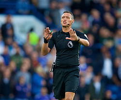 LONDON, ENGLAND - Saturday, September 29, 2018: Referee Andre Marriner during the FA Premier League match between Chelsea FC and Liverpool FC at Stamford Bridge. (Pic by David Rawcliffe/Propaganda)