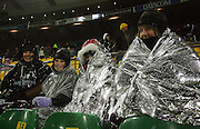 All Blacks fans brave the elements.<br /> Philips Tri Nations, All Blacks vs South Africa at Westpac Stadium, Wellington, New Zealand, Saturday 5 July 2008. Photo: Dave Lintott/PHOTOSPORT