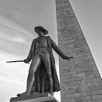 Boston fine art photography images of the historic Bunker Hill Monument and William Prescott in Charlestown, Massachusetts. It is the site of the first major battle of the American Revolution, aka The Battle of Bunker Hill. The Bunker Hill Monument on Breed's Hill is the end of the Boston Freedom Trail. Visiting this historic site and climbing to the top of the pinnacle is an experience itself but the vistas of Boston and surrounding areas are amazing and well worth the trip up the 294 steps.<br /> <br /> This Boston Charlestown photo of the historic Bunker Hill Monument and William Prescott is available as museum quality photography prints, canvas prints, acrylic prints or metal prints. Prints may be framed and matted to the individual liking and decorating needs:<br /> <br /> https://juergen-roth.pixels.com/featured/charlestown-bunker-hill-monument-and-william-prescott-juergen-roth.html<br /> <br /> All photographs are available for digital and print use at www.ExploringTheLight.com. Please contact me direct with any questions or request.<br /> <br /> Good light and happy photo making!<br /> <br /> My best,<br /> <br /> Juergen<br /> Licensing and Prints: http://www.rothgalleries.com<br /> Instagram: https://www.instagram.com/rothgalleries<br /> Twitter: https://twitter.com/naturefineart<br /> Facebook: https://www.facebook.com/naturefineart