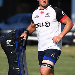 Etienne Oosthuizen during The Cell C Sharks training session at Growthpoint Kings Park in Durban, South Africa. 4th July 2017(Photo by Steve Haag)<br /> <br /> images for social media must have consent from Steve Haag