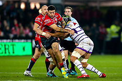 Matt Banahan of Gloucester Rugby breaks through - Mandatory by-line: Robbie Stephenson/JMP - 16/11/2018 - RUGBY - Kingsholm - Gloucester, England - Gloucester Rugby v Leicester Tigers - Gallagher Premiership Rugby