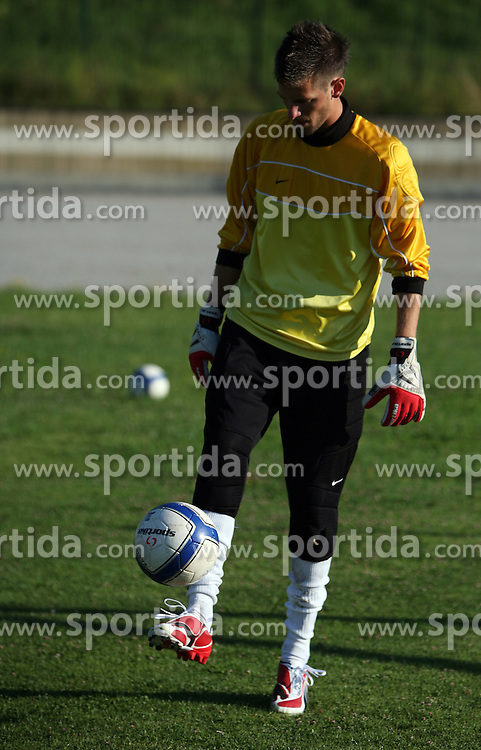 Goalkeeper Darjan Curanovic at practice of free players of SPINS before departure to FIFPro tournament 2008 in Amsterdam, The Netherlands, for out-of-contract football professionals, on July 16, 2008, at Stadium ND Ilirija, in Ljubljana, Slovenia. (Photo by Vid Ponikvar / Sportal Images)
