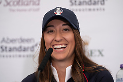 Auchterarder, Scotland, UK. 10 September 2019. Press conference by team at Gleneagles. Pictured Marina Alex of USA. Iain Masterton/Alamy Live News