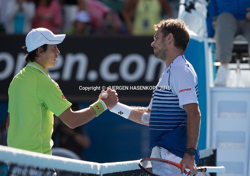 Stanislas Wawrinka (SUI)<br /> <br /> Tennis - Australian Open 2015 - Grand Slam ATP / WTA -  Melbourne Olympic Park - Melbourne - Victoria - Australia  - 28 January 2015.