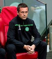 17/09/15 UEFA EUROPA LEAGUE GROUP STAGE<br /> AJAX v CELTIC<br /> AMSTERDAM ARENA - HOLLAND<br /> Celtic manager Ronny Deila before kick-off