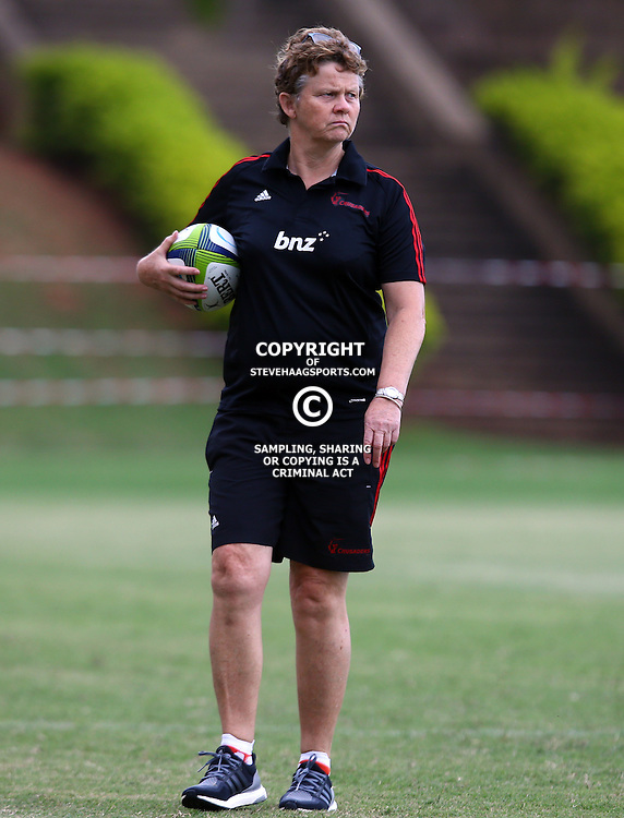 DURBAN, SOUTH AFRICA, 24,MARCH, 2016 -  Dr Deborah Robinson (Doctor) of the BNZ Crusaders during The Crusaders training session  at Northwood School Durban North in Durban and the Crusaders Media conference, South Africa. (Photo by Steve Haag)<br /> <br /> images for social media must have consent from Steve Haag