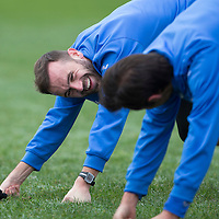 St Johnstone Training....21.11.14<br /> James McFadden pictured during training this morning ahead of tomorrow's league gam against Ross County.<br /> Picture by Graeme Hart.<br /> Copyright Perthshire Picture Agency<br /> Tel: 01738 623350  Mobile: 07990 594431