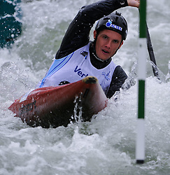 30-05-2014 FIN: EK Wildwaterkanoen K1 slalom, Wenen<br /> Maarten Hermans (NED) in action during his qualification run in the men canoe single class (K1) of the Canoe Slalom<br /> <br /> *** NETHERLANDS ONLY ***