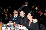SIR ELTON JOHN; BEN DREW; ( PLAN B ), Grey Goose Winter Ball to Benefit the Elton John AIDS Foundation. Battersea park. London. 29 October 2011. <br /> <br />  , -DO NOT ARCHIVE-© Copyright Photograph by Dafydd Jones. 248 Clapham Rd. London SW9 0PZ. Tel 0207 820 0771. www.dafjones.com.