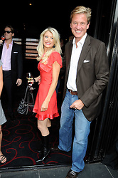 ROBERT HERSOV and DR KATIE JAMES at the Beat Summer party hosted by Luce del Bono at L'Atelier De Joel Robuchon, 13-15 West Street, Covent Garden, London on 1st July 2008.<br /><br />NON EXCLUSIVE - WORLD RIGHTS