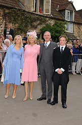 LORD & LADY ASTOR OF HEVER and their children CHARLES and NATALIA at the wedding of Laura Parker Bowles to Harry Lopes held at Lacock, Wiltshire on 6th May 2006.<br />