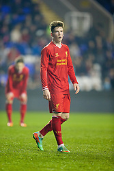 READING, ENGLAND - Wednesday, March 12, 2014: Liverpool's Ryan Kent in action against Reading during the FA Youth Cup Quarter-Final match at the Madejski Stadium. (Pic by David Rawcliffe/Propaganda)