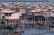 Stilted slum dwellings of Isla Trinitario, Guayaquil, Ecuador