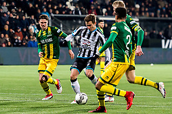 Reuven Niemeijer of Heracles Almelo scores during the Dutch Eredivisie match between Heracles Almelo and ADO Den Haag at Polman stadium on February 03, 2018 in Almelo, The Netherlands