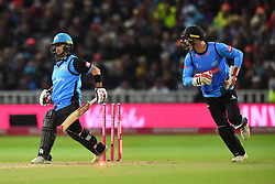 Worcestershire Rapids' Brett D'Oliveira is stumped by Sussex Sharks' Michael Burgess during the Vitality T20 Blast Final on Finals Day at Edgbaston, Birmingham.