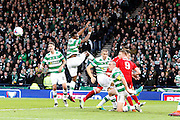 Celtic clear their lines during the Betfred Scottish Cup  Final match between Aberdeen and Celtic at Hampden Park, Glasgow, United Kingdom on 27 November 2016. Photo by Craig Galloway.
