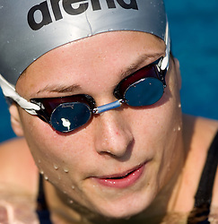 Peter Mankoc's girlfriend Triin Aljand (EST) of PK Ilirija  at 36 International swimming meeting City of Ljubljana Cup, on May 21, 2011 in Kodeljevo pool, Ljubljana, Slovenia. (Photo By Vid Ponikvar / Sportida.com)