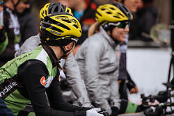 Cylance take a front row spot for the start in Ieper - Women's Gent Wevelgem 2016, a 115km UCI Women's WorldTour road race from Ieper to Wevelgem, on March 27th, 2016 in Flanders, Netherlands.