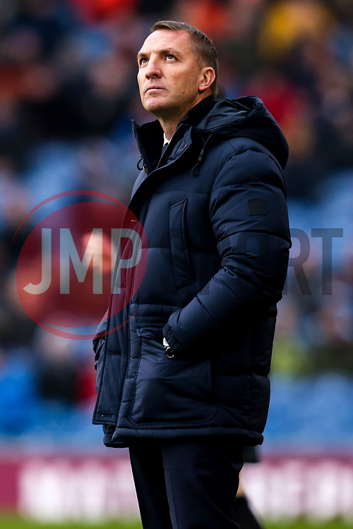 Leicester City manager Brendan Rogers looks up - Mandatory by-line: Robbie Stephenson/JMP - 19/01/2020 - FOOTBALL - Turf Moor - Burnley, England - Burnley v Leicester City - Premier League