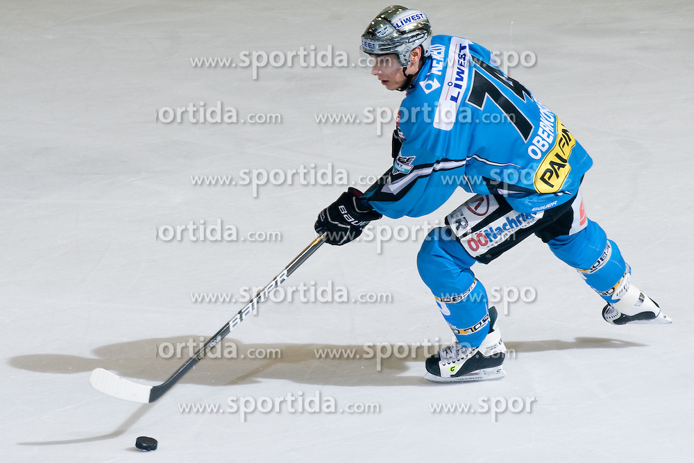 Daniel Obekofler ( EHC Liwest Black Wings Linz, #74) during ice-hockey match between HDD Tilia Olimpija and EHC Liwest Black Wings Linz in 18th Round of EBEL league, on November 5, 2010 at Hala Tivoli, Ljubljana, Slovenia. (Photo By Matic Klansek Velej / Sportida.com)