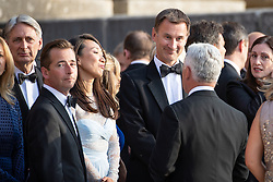"© Licensed to London News Pictures . Oxfordshire , UK . FILE PICTURE DATED 12/07/2018 of LUCIA GUO and her husband , British Foriegn Secretary JEREMY HUNT , at Blenheim Palace , during a visit by US President Donald Trump . Hunt has mistakenly referred to his Chinese wife as ""Japanese"" during an official visit to China . Photo credit: Joel Goodman/LNP"