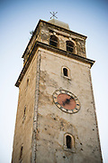Historic clock and bell tower, Skradin, Dalmatia, Croatia