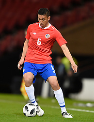 Costa Rica's Oscar Duarte in action during the international friendly match at Hampden Park, Glasgow. RESTRICTIONS: Use subject to restrictions. Editorial use only. Commercial use only with prior written consent of the Scottish FA.
