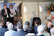 The Dutch prince Willem-Alexander (R) and his wife princess Maxima walk in front of Castle Duivenvoorde in Voorschoten, The Netherlands on 28 April 2010. The royal couple opened the exhibit Tijdloos Trendy (Forever Trendy). The exhibit is one of the activities of the 50th anniversary of the Duivenvoorde foundation. <br /> <br /> On the Photo:  Prinses Maxima speelt woensdag in kasteel Duivenvoorde in Voorschoten samen met acteur Pierre Bokma en Gijs Scholten van Aschat het toneelstuk Romeo en Julia. ///<br /> Princess Maxima plays Wednesday at the castle in Voorschoten Duivenvoorde with actor Pierre Bokma, Gijs Scholten and Aschat the play Romeo and Juliet.