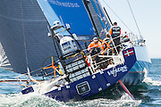 Team Vestas complete leg 1 of the 2014-2015 Volvo Ocean Race arriving in Cape Town. Image by Greg Beadle (Beadle/Lexar)